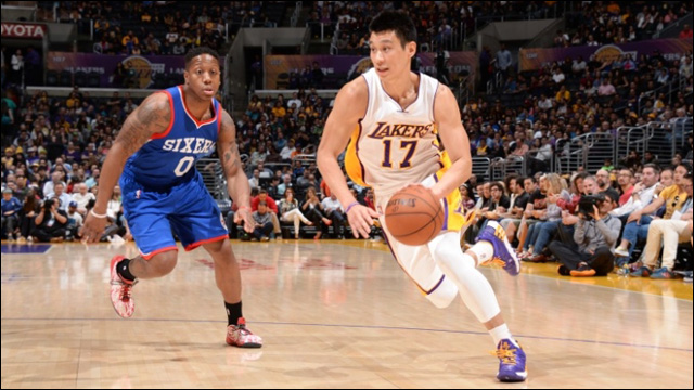 Jeremy lin drops season high 29 points on the 76ers m4hsunfo Choice Image