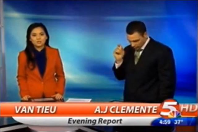 anchor having sex in news van