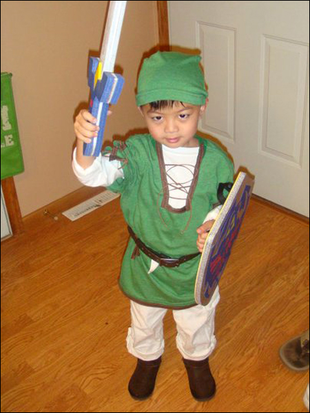 5-year-old Ethan in his homemade Link costume.  sc 1 st  Angry Asian Man & your halloween costumes