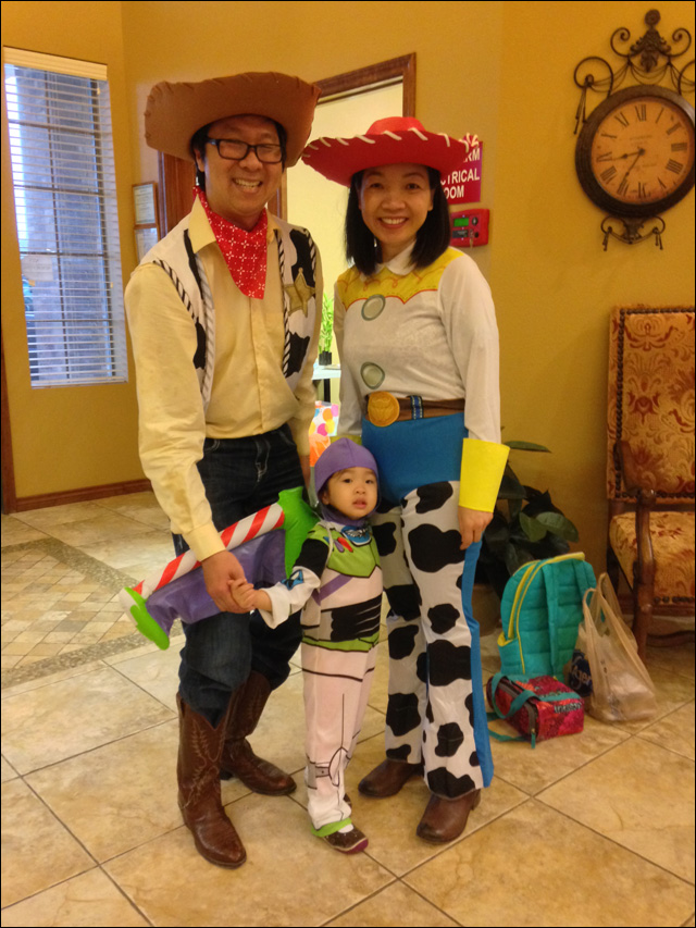 John Chloe and Phuong as Woody Buzz Lightyear and Jessie from Toy Story.  sc 1 st  Angry Asian Man & Your Halloween Costumes Part One