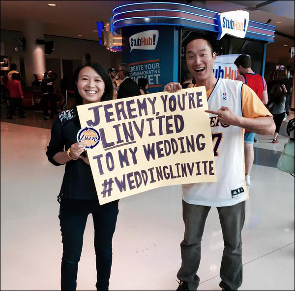 Jeremy lin drops season high 29 points on the 76ers eric who is purportedly the biggest jeremy fan in the world and his fiancee jessica held up hand made signs from their third row seats at sunday nights m4hsunfo