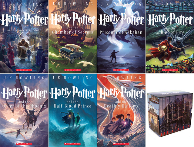 Harry Potter Book Set New Cover ~ New harry potter anniversary cover art by kazu kibuishi