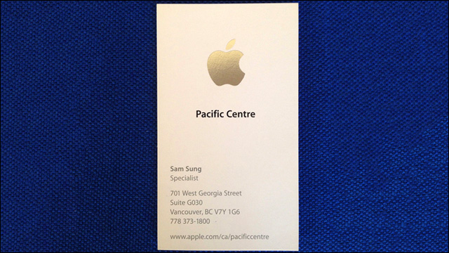 Ex apple employee sam sung sells business card for charity colourmoves